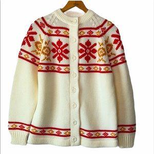 Vintage Knit Button Down Sweater